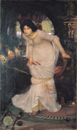 waterhouse_the_lady_of_shalott looking at lancelot